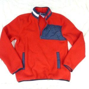 VTG 90s Tommy Hilfiger Red Fleece Logo Neck XL